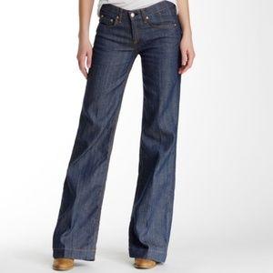 Rag & Bone Loose Fit Wide Leg Jeans High Waist